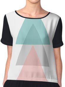 Aqua - Triangles Chiffon Top