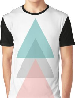 Aqua - Triangles Graphic T-Shirt