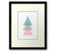 Aqua - Triangles Framed Print