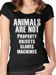 Animals Are Not Women's Fitted Scoop T-Shirt