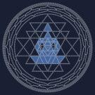 Sri Chakra Blue Meditation  by Kim  Lynch