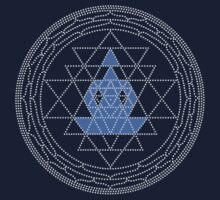 Sri Chakra Blue Meditation  by Kim  Lynch