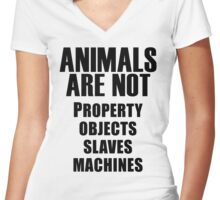 Animals Are Not Women's Fitted V-Neck T-Shirt