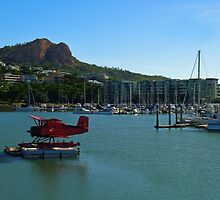 The Red Baron on the Breakwater Marina, Townsville by Paul Gilbert