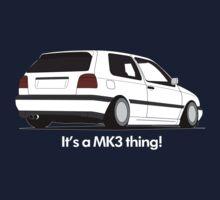 MKIII Gti Graphic-White ink Kids Tee