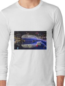 Webb Bridge by night at the Docklands, Melbourne Long Sleeve T-Shirt