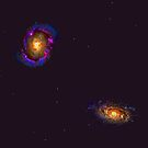 NGC4314 & NGC1316 Galaxies by Shevaun  Shh!