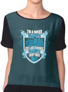 I'm a Biker Grandpa - Grandpa T Shirt Chiffon Top