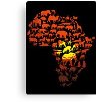 Africa The Dark Continent Canvas Print