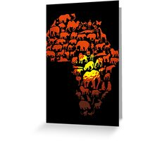 Africa The Dark Continent Greeting Card