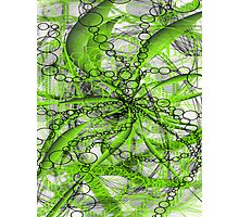 neon green abstract Photographic Print