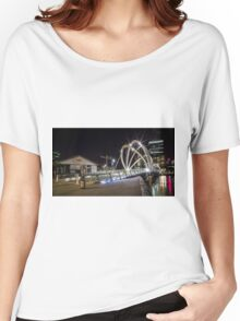 Seafarer's Bridge over Yarra River, Melbourne Women's Relaxed Fit T-Shirt