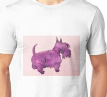 Scottie watercolour (purple) Unisex T-Shirt