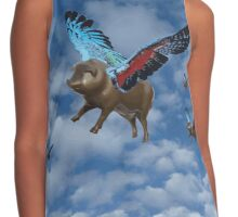If Pigs Could Fly - with rainbow wings Contrast Tank