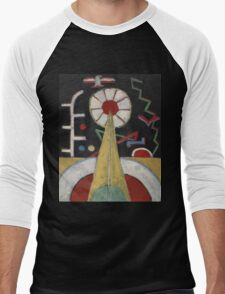 Marsden Hartley - Berlin Series No. 1. Abstract painting: abstract art, geometric, expressionism, composition, lines, forms, creative fusion, spot, shape, illusion, fantasy future Men's Baseball ¾ T-Shirt