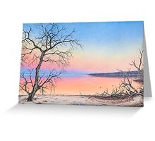 Estuary Glow Greeting Card