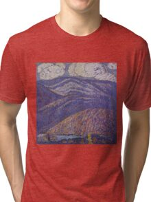Marsden Hartley - Hall Of The Mountain King. Mountains landscape: mountains, rocks, rocky nature, sky and clouds, trees, peak, forest, rustic, hill, travel, hillside Tri-blend T-Shirt