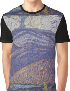 Marsden Hartley - Hall Of The Mountain King. Mountains landscape: mountains, rocks, rocky nature, sky and clouds, trees, peak, forest, rustic, hill, travel, hillside Graphic T-Shirt