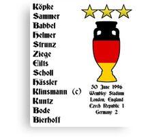 Germany Euro 1996 Winners Canvas Print