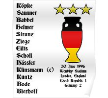Germany Euro 1996 Winners Poster