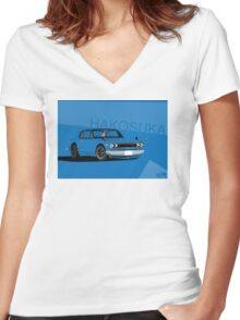Hakosuka Gtr Skyline Women's Fitted V-Neck T-Shirt