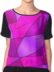 ABSTRACT CURVES-2 (Purples, Fuchsias, Violets & Magentas)-(9000 x 9000 px) Chiffon Top