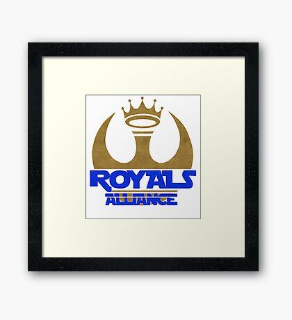 ROYALS ALLIANCE BLUE!! Framed Print