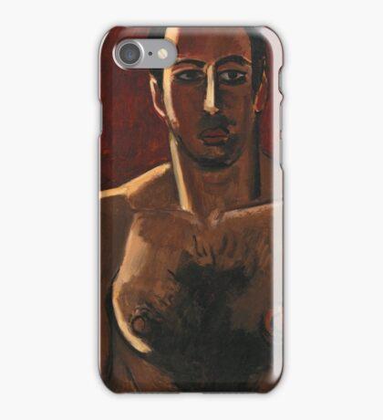 Marsden Hartley - Madawaska, Acadian Light-Heavy, Third Arrangement 1940. Man portrait: strong man, boy, male, beard, business suite, masculine, boyfriend, smile, manly, sexy men, mustache iPhone Case/Skin