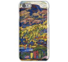 Marsden Hartley - Mountain Lake-Autumn. Mountains landscape: mountains,  Lake, rocky nature, sky and clouds, trees, peak, forest, rustic, hill, travel, Autumn iPhone Case/Skin