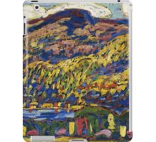 Marsden Hartley - Mountain Lake-Autumn. Mountains landscape: mountains,  Lake, rocky nature, sky and clouds, trees, peak, forest, rustic, hill, travel, Autumn iPad Case/Skin