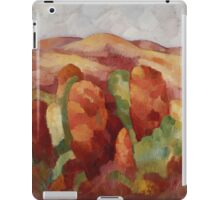 Marsden Hartley - Mountains. Mountains landscape: mountains, rocks, rocky nature, sky and clouds, trees, peak, forest, rustic, hill, travel, hillside iPad Case/Skin