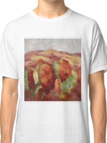 Marsden Hartley - Mountains. Mountains landscape: mountains, rocks, rocky nature, sky and clouds, trees, peak, forest, rustic, hill, travel, hillside Classic T-Shirt