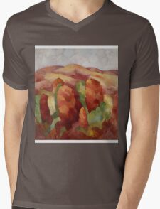Marsden Hartley - Mountains. Mountains landscape: mountains, rocks, rocky nature, sky and clouds, trees, peak, forest, rustic, hill, travel, hillside Mens V-Neck T-Shirt