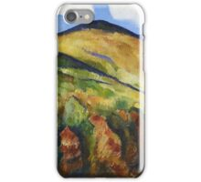 Marsden Hartley - Mountains No. 22. Mountains landscape: mountains, rocks, rocky nature, sky and clouds, trees, peak, forest, rustic, hill, travel, hillside iPhone Case/Skin