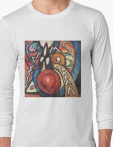 Marsden Hartley - Movements. Abstract painting: abstract art, geometric, expressionism, composition, lines, forms, creative fusion, spot, shape, illusion, fantasy future Long Sleeve T-Shirt