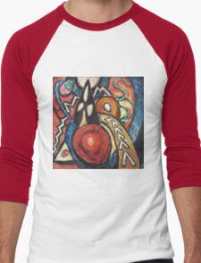 Marsden Hartley - Movements. Abstract painting: abstract art, geometric, expressionism, composition, lines, forms, creative fusion, spot, shape, illusion, fantasy future Men's Baseball ¾ T-Shirt