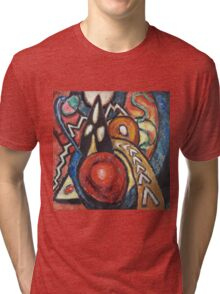 Marsden Hartley - Movements. Abstract painting: abstract art, geometric, expressionism, composition, lines, forms, creative fusion, spot, shape, illusion, fantasy future Tri-blend T-Shirt