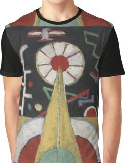 Marsden Hartley - Painting No. 3. Abstract painting: abstract art, geometric, expressionism, composition, lines, forms, creative fusion, spot, shape, illusion, fantasy future Graphic T-Shirt