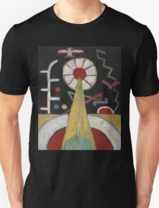 Marsden Hartley - Painting No. 3. Abstract painting: abstract art, geometric, expressionism, composition, lines, forms, creative fusion, spot, shape, illusion, fantasy future Unisex T-Shirt