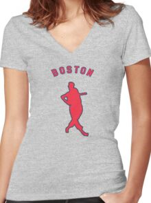 the greatest hitter who ever lived. Women's Fitted V-Neck T-Shirt