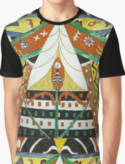 Marsden Hartley - Painting No. 50. Abstract painting: abstract art, geometric, expressionism, composition, lines, forms, creative fusion, spot, shape, illusion, fantasy future Graphic T-Shirt