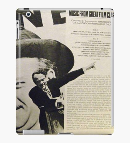 Music From Great Film Classics, Citizen Kane iPad Case/Skin