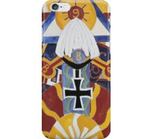 Marsden Hartley - Painting Number 49, Berline. Abstract painting: abstract art, geometric, expressionism, composition, lines, forms, creative fusion, spot, shape, illusion, fantasy future iPhone Case/Skin