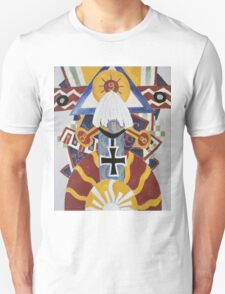 Marsden Hartley - Painting Number 49, Berline. Abstract painting: abstract art, geometric, expressionism, composition, lines, forms, creative fusion, spot, shape, illusion, fantasy future Unisex T-Shirt
