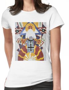 Marsden Hartley - Painting Number 49, Berline. Abstract painting: abstract art, geometric, expressionism, composition, lines, forms, creative fusion, spot, shape, illusion, fantasy future Womens Fitted T-Shirt