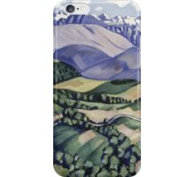 Marsden Hartley - Purple Mountains, Vence. Mountains landscape: mountains, rocks, rocky nature, sky and clouds, trees, peak, forest, Purple Mountains, hill, travel, hillside iPhone Case/Skin