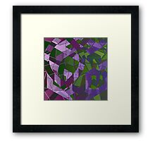 Psychedelic Geometric Pattern  Framed Print