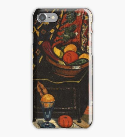 Marsden Hartley - Still Life . Still life with fruits and vegetables: still life with fruits and vegetables, fruit, vegetable, grapes, tasty, gastronomy food, flowers, dish, cooking, kitchen, vase iPhone Case/Skin