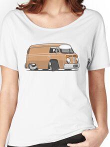 VW T2 van cartoon brown Women's Relaxed Fit T-Shirt