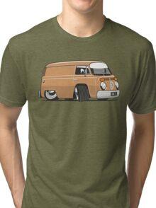 VW T2 van cartoon brown Tri-blend T-Shirt